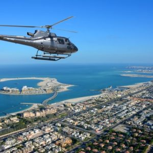 Helicopter over The Palm Dubai